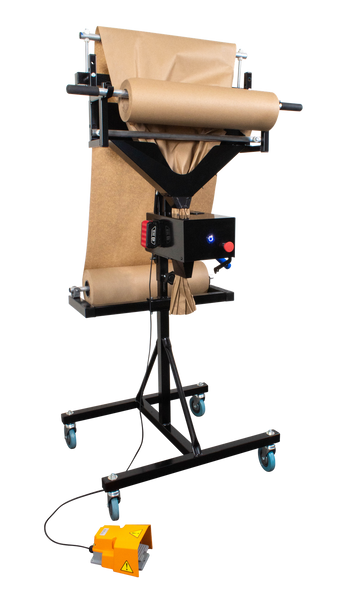 Mobile Semi-Automatic Battery Operated, Manual Cutting, Paper Crumpler, Void Fill Dispensing System