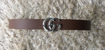 Brown GG Silver Belt