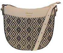 Curved Top Printed Large Crossbody Bag
