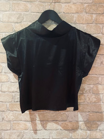 Black Satin Top