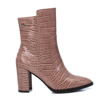 XTI Nude Croc Mid Length Boot 44643