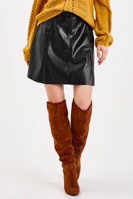 ByDake Black Leather Skirt
