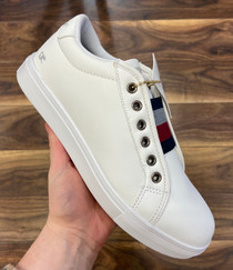 Soho Slip on Trainer (White) ***Fits Larger***