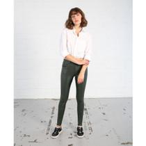 Nellie Leather Jean (Khaki)