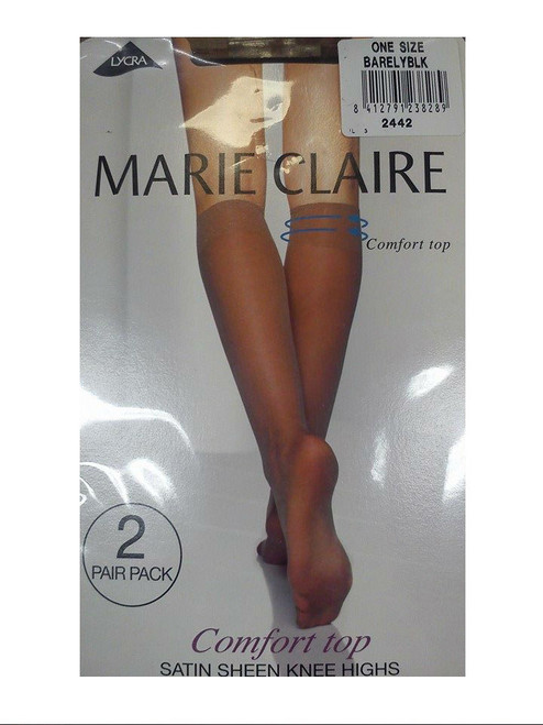 Marie Claire Satin sheen knee highs