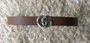 Brown GG Silver Belt