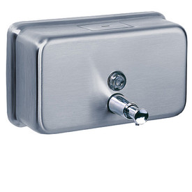 This Stainless Steel Horizontal Soap Dispenser is durable and robust with a capacity of 1.2 litres.