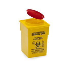 YELLOW SHARPS SAFE: 2lt. yellow square 90mm
