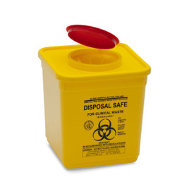 YELLOW SHARPS SAFE: 4.75lt. yellow square 90mm