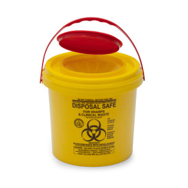 YELLOW SHARPS SAFE: 4.75lt. yellow round 125mm