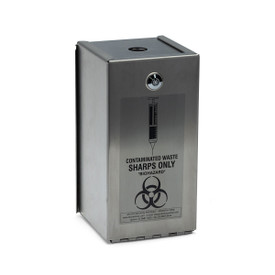 """STEEL SYRINGE SAFES: """"STAINLESS STEEL ARMOUR"""" LOCKABLE:2 litre Stainless Steel Safe for RE2LS"""