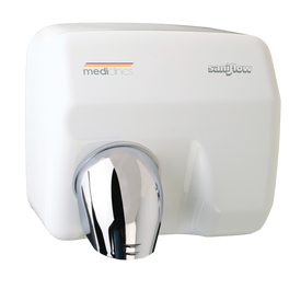 MEDICLINICS SANIFLOW HAND DRYER -WHITE STEEL MANUAL OR AUTO