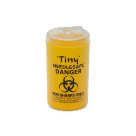 YELLOW SHARPS SAFE: 200ml 'TINY' Needle-safe