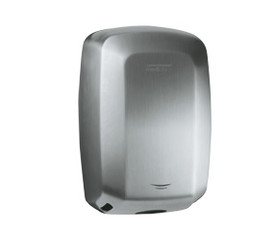 S/Steel casing Satin  Machflow® sensor operated hand dryer  New generation high speed dryer ideal for high traffic areas. Manufactured in Europe, warranty 3 yrs labour – 7 yrs parts. Uses up to 90% less energy than warm air hand dryers. Dries hands in a super fast 8 – 12 seconds. Has no heating element. Adjustable motor speed, air flow, dry time and noise levels. GREENSPEC listed and great for NABERS and GREENSTAR. Vandal resistant design