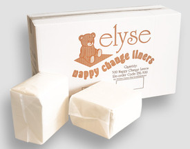 BABY CHANGE TABLE LINERS - 10 PACKS OF 50 (CTN 500)