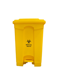 Yellow Medical & Clinical Waste Pedal Bin