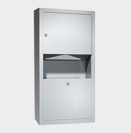 PAPER TOWEL DISPENSER & WASTE BIN 7.6L – SURFACE MOUNTED, TRADITIONAL COLLECTION