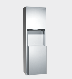 PAPER TOWEL DISPENSER & WASTE BIN 46L – SURFACE MOUNTED, TRADITIONAL COLLECTION