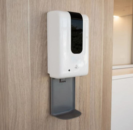 Automatic Hand Sanitiser Dispenser and Drip Tray
