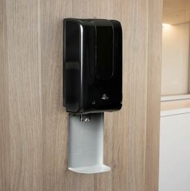 Automatic Hand Sanitiser Dispenser and Drip Tray - Black