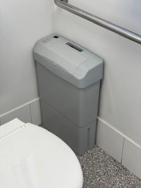 """ASH GREY AUTOMATIC """"TOUCH FREE"""" SANITARY UNIT"""