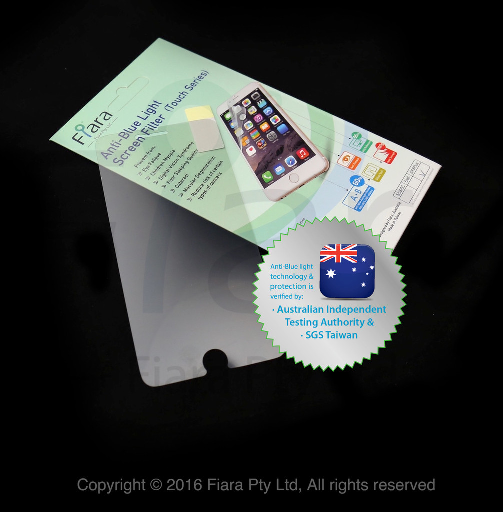 Fits Apple iPhone 5/5s/5c/5SE/iPod Touch 7th (4.0 inch) - Fiara Anti Blue Light Screen Protector / Filter | Self-Adhesive Film