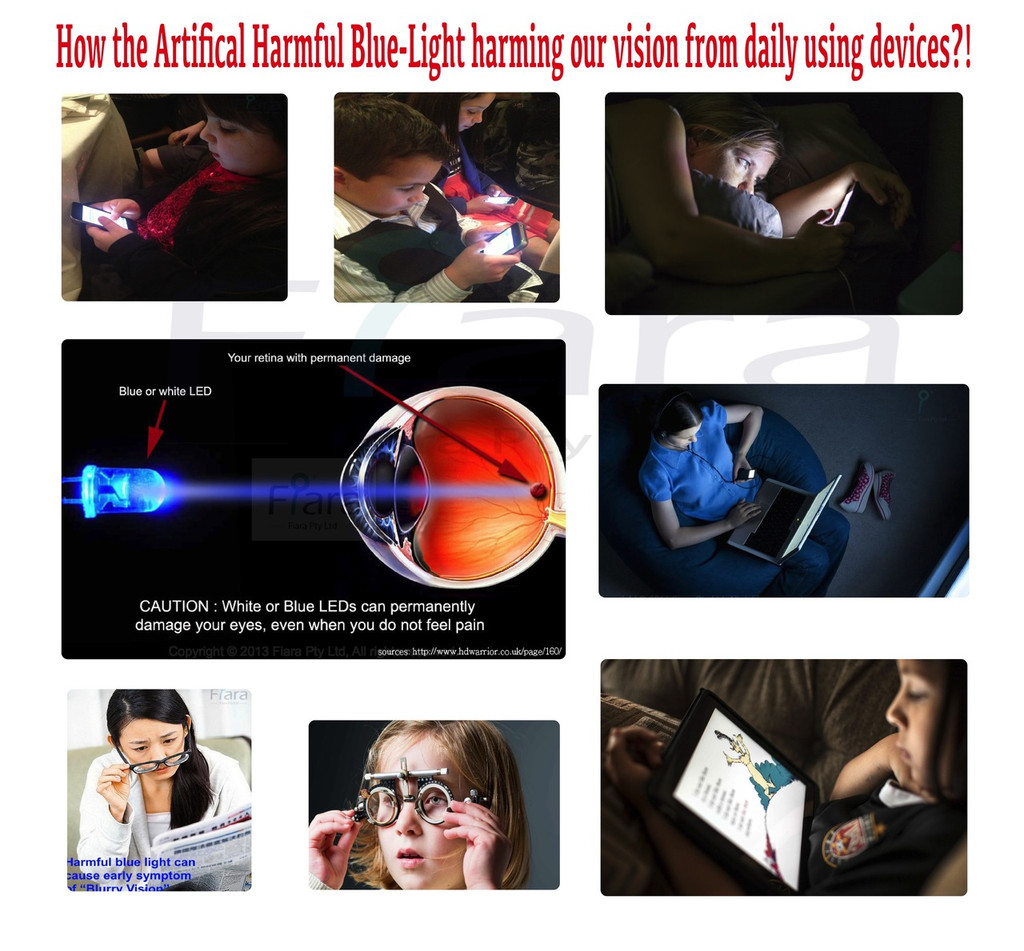 "12.9"" inch - Fiara iPad Anti Blue Light Screen Protector / Filter | Self-Adhesive Film (2016/2017 Model / Home Key-1st/2nd Generation)"