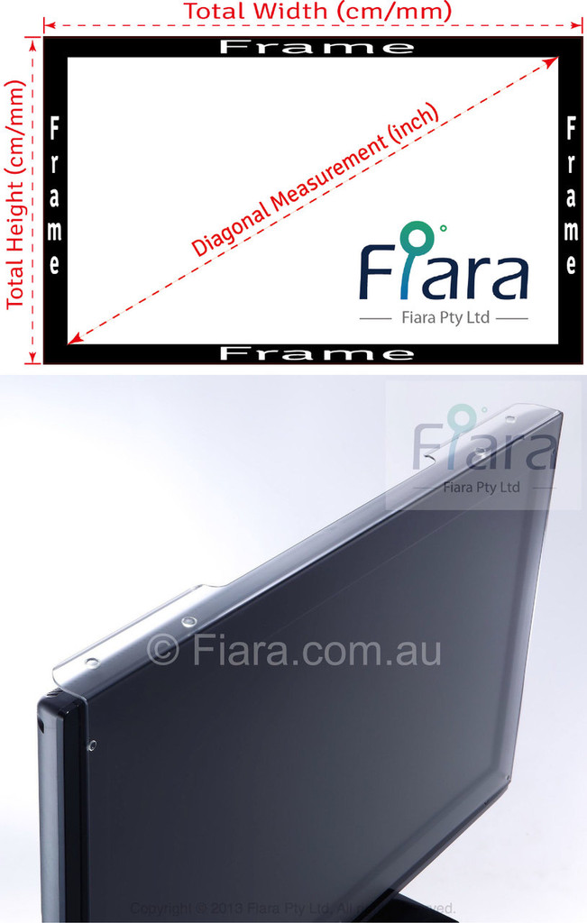 Fits 23/24-inch Monitor / Desktop | Fiara Anti Blue Light Screen Protector / Filter