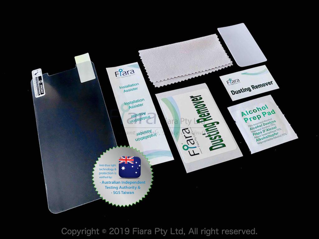 Fits Apple iPhone 12 Pro / 12 / 11 / XR (6.1 inch) - Fiara Anti Blue Light Screen Protector / Filter | Self-Adhesive Film