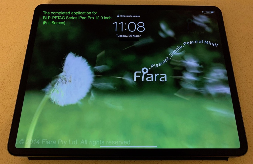 12.9 inch - Fiara Anti Blue Light Screen Protector / Filter | Self-Adhesive Film (FULL SCREEN)