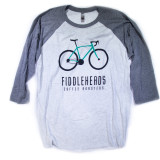 Gray Bicycle Baseball t-shirt