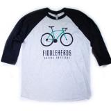 Charcoal Bicycle Baseball t-shirt