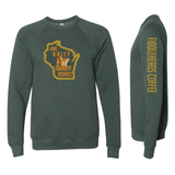 Heart of Gold: The metaphor describes someone who is very compassionate and sincere who also expresses generosity and empathy. This sweatshirt represents unity between everyone, depicting harmony and love towards one another.  Crew Neck Sweatshirt is a wonderful transition from autumn to winter! This sweatshirt provides the perfect warmth for a stroll or a cozy seat near the fireplace.   Machine wash warm, inside out, with like colors. Only non-chlorine bleach. Tumble dry low. Medium iron. Do not iron decoration. Do not dry clean.   52% Cotton 48% Polyester