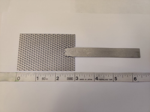 """Platinum Mesh Anode, 2"""" by 3"""""""