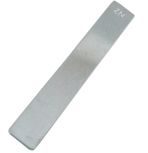 """Zinc Electrode (CP Grade, 99+%), 2"""" x 6"""" by 1mm thick"""