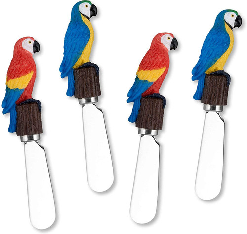 Parrots Cheese Spreader Set