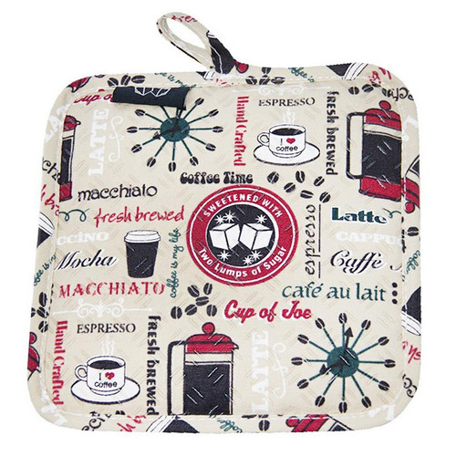 Coffee Time Silicone Potholder