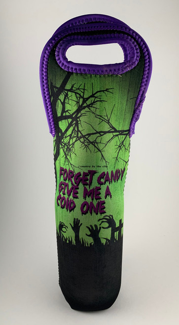 Halloween Forget Candy Wine Tote Holder