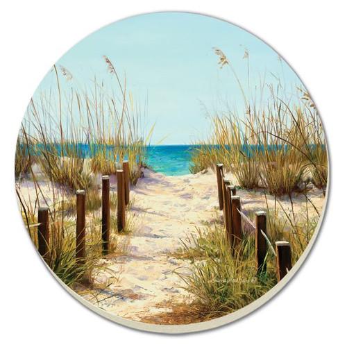 Beach Path Stoneware Coaster Set