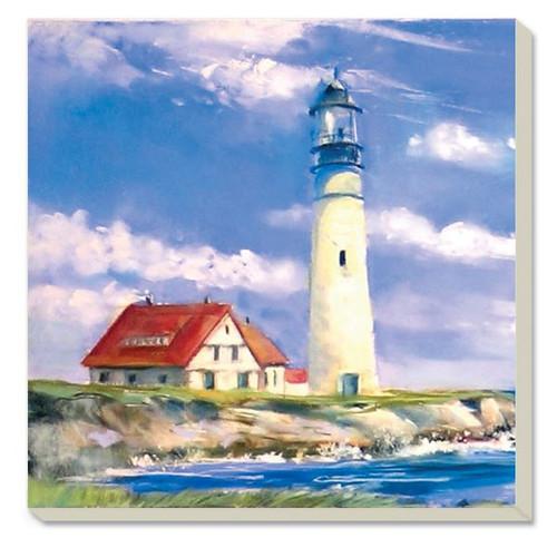 Coastal Lighthouse Stoneware Coaster Set