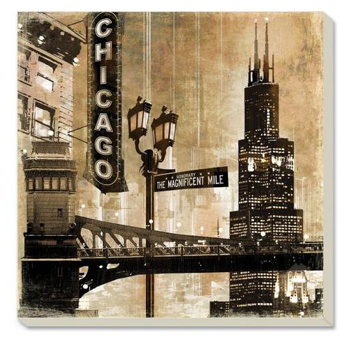 Chicago Stoneware Coaster Set