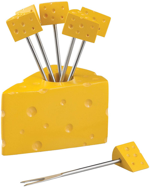 Cheese Block Cocktail Party Pick Set