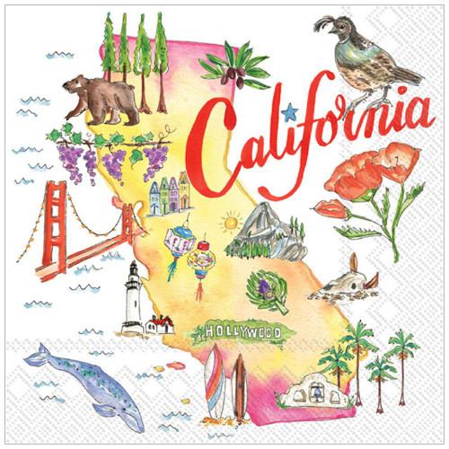 California State Cocktail Napkin