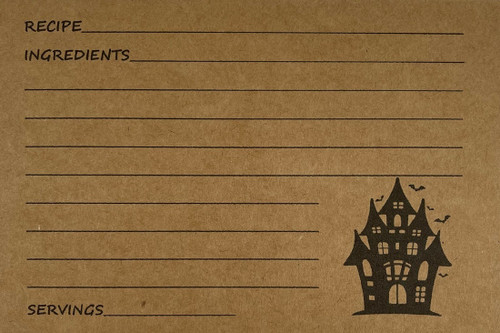 Haunted House Recipe Card Package of 40
