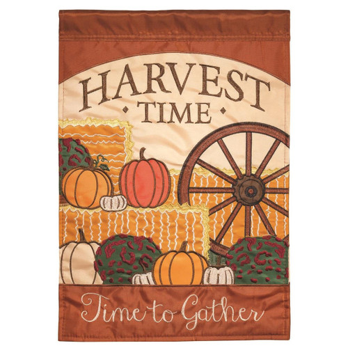 Harvest Time Autumn Garden Flag