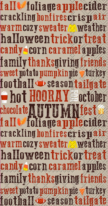 Hooray for Autumn Thanksgiving Guest Towel