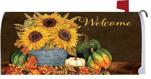 Autumn Sunflowers Mailbox Cover