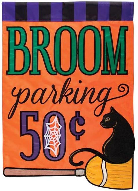 Broom Parking Halloween Garden Flag