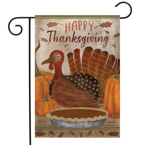 Gather Together Turkey Thanksgiving Garden Flag