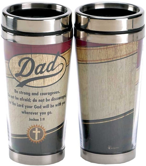 Dad Be Strong Travel Tumbler
